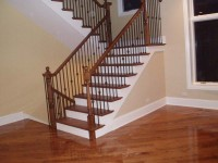 Hardwood stairs final product